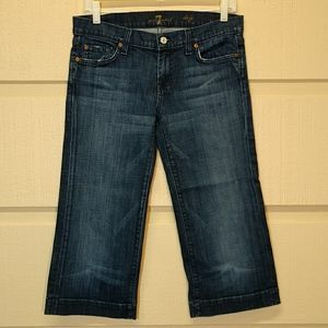 "7 for all mankind cropped dojo 20"" inseam size 29"